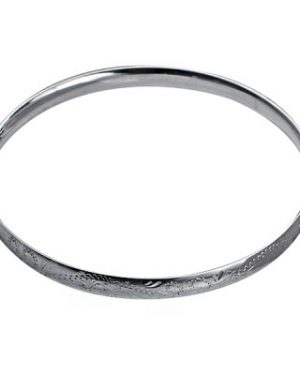 G55E - SS 5.5mm Engraved Solid Comfort Fit Golf Bangle