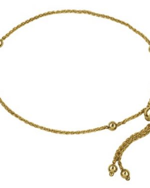 9ct Yellow Gold Italian Ball Slider Bracelet