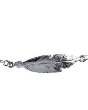 Sterling Silver Italian Feather Bracelet