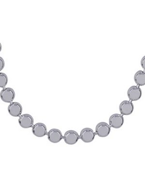 Sterling Silver Italian Flat Bead Necklet