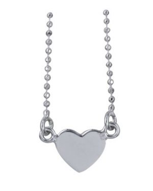 Sterling Silver Heart Necklet