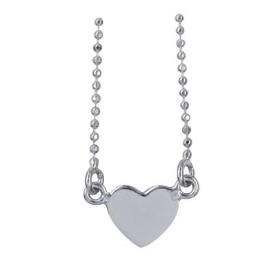 Sterling Silver Heart Necklet