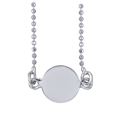 Sterling Silver Disc Necklet
