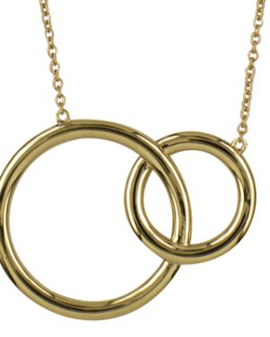 9Y Plain Fixed Interlocking Circles Necklet